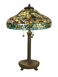 large dale tiffany table lamp flowers