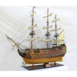 Oversized XL Hand Built Historic Model Ship HMS Victory Museum Quality Level NEW
