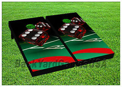 Cornhole Beanbag Toss Game Lucky Red Dice Casino W Bags Game Boards Set 1071