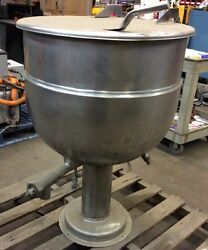 40 Gal. Stainless Steel Pedestal Base Jacketed Kettle