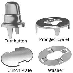 Stud Single Two Prong Clinch Fasteners Clinch Plate Eyelet And Washers 10 Sets