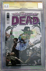 The Walking Dead 1 2nd Print 2013 Portland Signed Michael Golden Cgc Ss 9.4 Nm