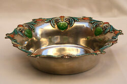Magnificent 1900 Gerge W. Shiebler Enameled Sterling Silver Bowl Must See