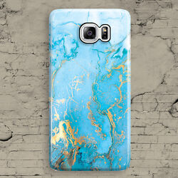 White Blue Gold Turquoise Marble Granite Samsung Galaxy Note 3,4,5 Case Cover
