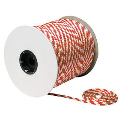 3/8 Inch X 500 Ft White And Red Solid Braid Mfp Rope Spool For Boats