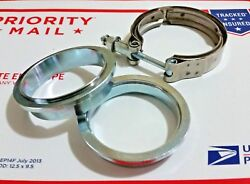 2.25and039and039 Ss 304 Stainless V-band Flange Clamp Kit M/f Exhaust V Band 2.25 Inch