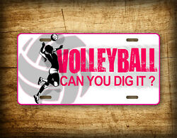 Volleyball License Plate