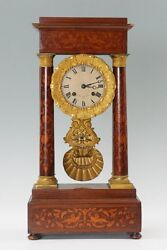 Monumental And Beautiful Balthazard French Portico Clock Just Serviced