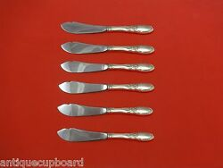 Old Mirror By Towle Sterling Silver Trout Knife Set 6pc. Hhws Custom 7 1/2
