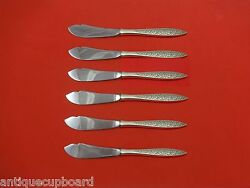 Spanish Lace By Wallace Sterling Silver Trout Knife Set 6pc. Hhws Custom 7 1/2