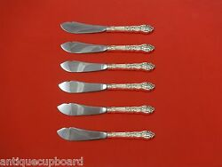 Versailles By Gorham Sterling Silver Trout Knife Set 6pc. Hhws Custom 7 1/2