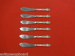 Violet By Wallace Sterling Silver Trout Knife Set 6pc. Hhws Custom 7