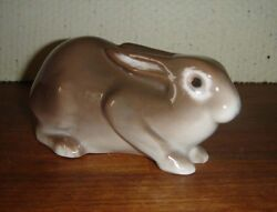 Brown Rabbit Sitting 2421 By Bing And Grondahl Royal Copenhagen Factory First
