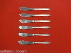 Spring Serenade By Lunt Sterling Silver Trout Knife Set 6pc. Hhws Custom 7 1/2