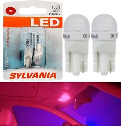 Sylvania Premium LED light 168 Red Two Bulbs License Plate Dome Side Marker Map