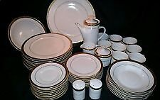 Lenox Aristocrat 48 Piece Fine China Ivory With Gold Encrushed Band-mint
