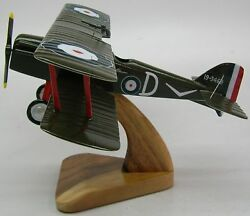 S.e.5a Raf Fighter Airplane Desktop Kiln Dry Wood Model Large Free Shipping New