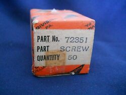 Fifty 50 New Lycoming 72351 Screw 10-32 Self Locking