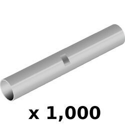 1,000 Pack 12-10 Awg Seamless Non Insulated Butt Connector Terminals For Boats