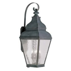 Livex Lighting Exeter Outdoor Wall Lantern In Vintage Pewter - 2607-61