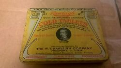 1920 Wt Rawleigh Co Quinine Bromide Laxative Cold Tablets Tin Sold From Wagons