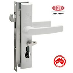 Lockwood 8654 Security Screen Door Lock-8654wh White No Cyl-free Postage