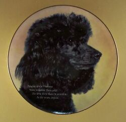 Cherished Poodles Love They Share Plate Dog Puppy Danbury Mint Black Poodle