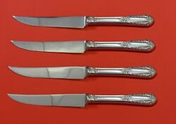 Inaugural By State House Sterling Silver Steak Knife Set 4pc Hhws Custom 8 1/2