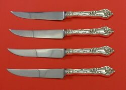 Intaglio By Reed And Barton Sterling Silver Steak Knife Set 4pc Hhws Custom