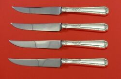 Louis Xiv By Towle Sterling Silver Steak Knife Set 4pc Hhws Custom Made 8 1/2