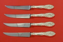 Valenciennes By Manchester Sterling Silver Steak Knife Set 4pc Hhws Custom Made