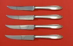 Lasting Spring By Oneida Sterling Silver Steak Knife Set 4pc Hhws Custom 8 1/2