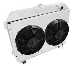 1970-1974 Challenger Radiator,3 Row Champion, Shroud, 2-12fans, Relay And Of Tank
