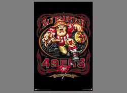 Rare San Francisco 49ers Grinding It Out Since 1946 Nfl Theme Art Logo Poster