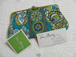 Vera Bradley PEACOCK Wallet DOUBLE KISSLOCK Clutch FOR Purse TOTE Backpack NWT~