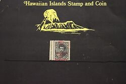 225 Hawaii 62d Provisional Govt.1893 Unused Double Over Print