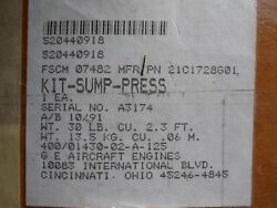One 1 New Sump Pressure Kit 21c1728g01 Ge Aircraft Engines