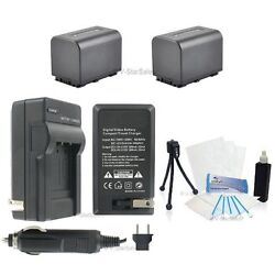 NP-FV70 Battery x2 + Charger for Sony HDR-CX330 HDR-CX900 HDR-PJ810 FDR-AX100
