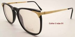 NEW VINTAGE RATTI PERSOL CELLOR 3 BLACK and GOLD FRAME SIZE 51