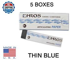 5 Boxes Dental Articulating Paper Thin 0.003 Blue 720 Sheets Made In Usa