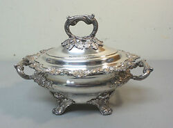 Gorgeous Old Sheffield Plate Osp Lidded Sauce Tureen C. 1830and039s