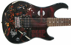 Stan Lee Signed Peavey Marve Deadpool Full Size Electric Guitar And Certificate