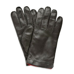 Merola Gloves Black Leather Mens Gloves Made In Italy