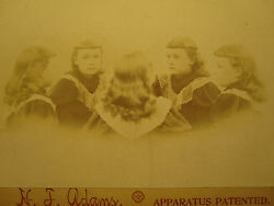 Antique Victorian Trick Photography Angel Girl Gambling Look Cabinet Card Photo