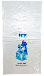 *Improved* Stronger Plastic Bag Clear Printed LDPE 20LB Ice bags $57.00