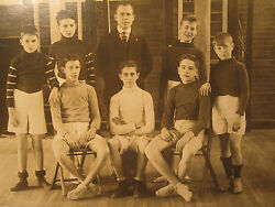 Antique Roaring 20s Youth Basketball Boys Socks Sneaks Young Fellows Great Photo