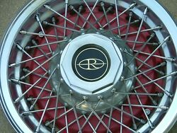 1977-78 Buick Riviera Wire Wheel Covers Set 4 Red Nos