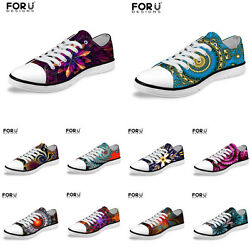 Women's Men's Casual Low Top Canvas Sneakers Flat Shoes Skateboard Trainers