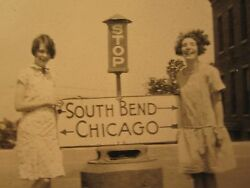 Antique Transportation South Bend In Home Of Notre Dame Chicago Stop Sign Photo