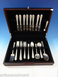 Normandie By Wallace Sterling Silver Flatware Set For 8 Service 52 Pieces